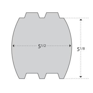 Cedar 6x6 Double Round Double T&G
