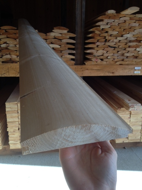 8″ Pine Log Siding