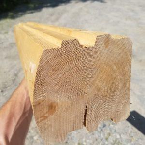 Cedar 6x6 Log Home D-Log