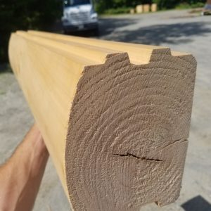 Pine 6x8 Log Home D-Log
