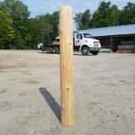 Hand Peeled Cedar Post